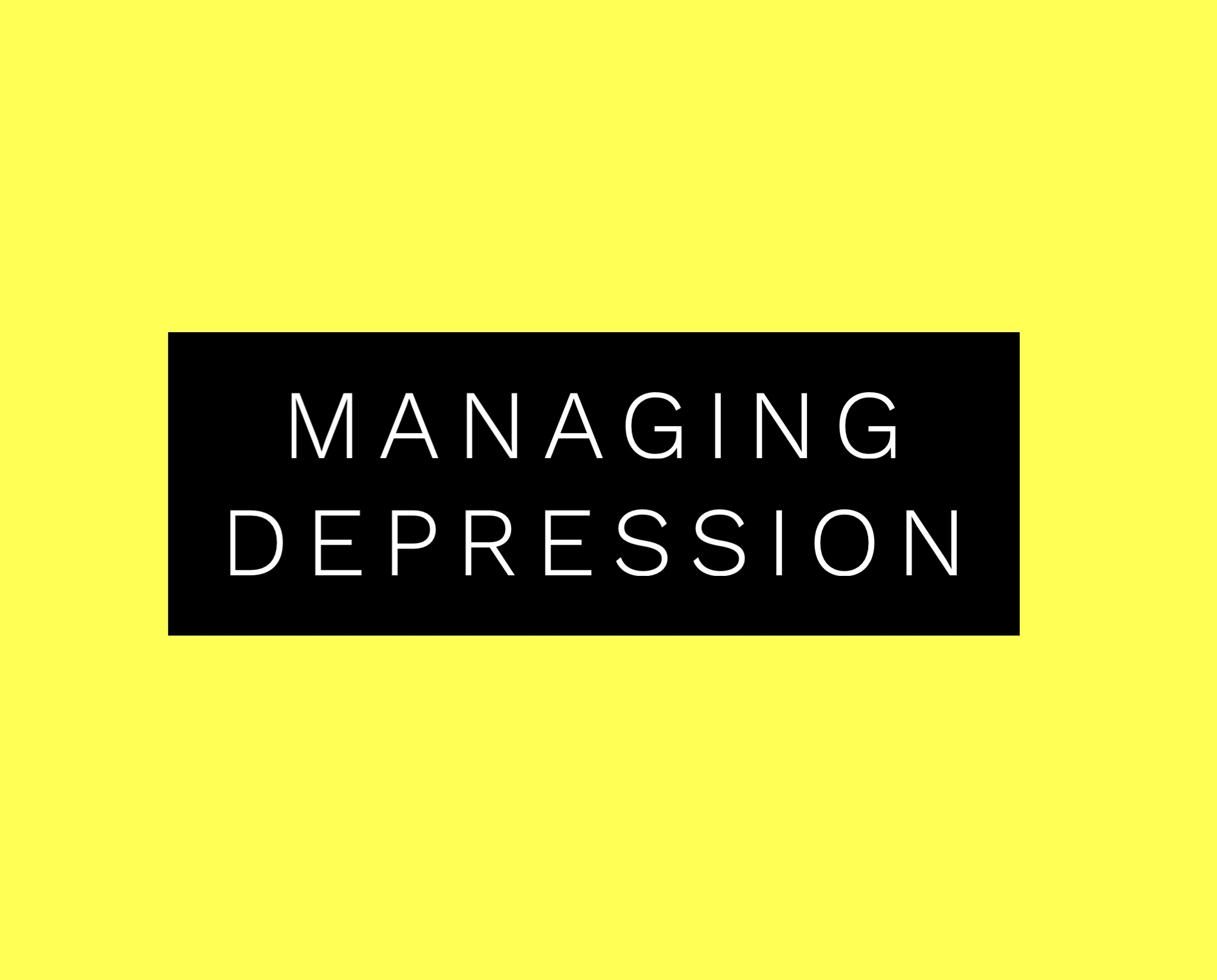 Tips For Managing Depression